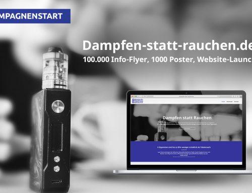 """BfTG startet Aufklärungs-Kampagne """"Dampfen statt Rauchen"""""""