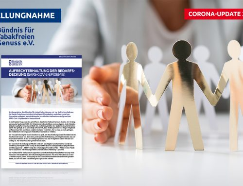 Update 3.0: E-Zigarettenbranche & Coronavirus (COVID-19)