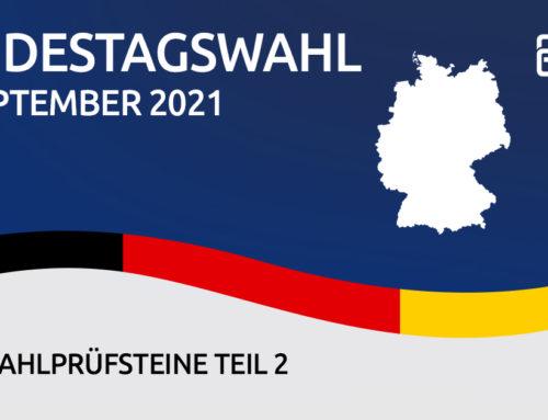 BfTG fragt nach – Wahlprüfsteine zur Bundestagswahl Teil 2